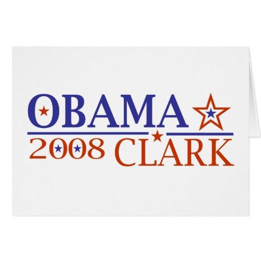 Obama Clark 08 Tarjeta De Felicitación