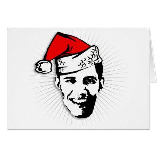 Obama Claus Tarjeta