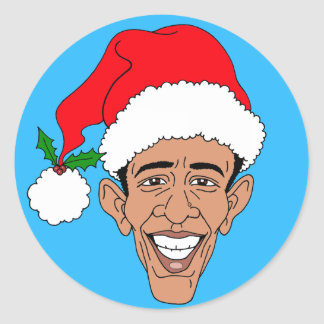 Obama Claus Classic Round Sticker