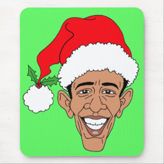 Obama Claus Mouse Pad
