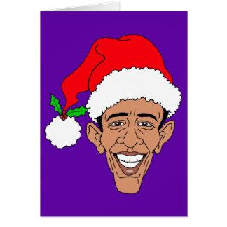 Obama Claus Tarjeta De Felicitación
