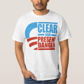 Obama - Clear and Present Danger (distressed) T-Shirt