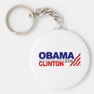 Obama Clinton 2008 Llavero