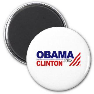 Obama Clinton 2008 Refrigerator Magnet