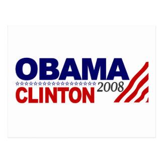 Obama Clinton 2008 Tarjetas Postales