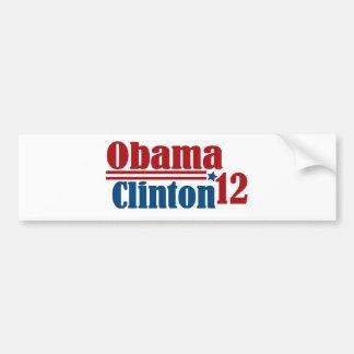 obama clinton 2012 bumper sticker