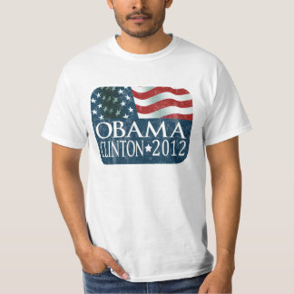 Obama Clinton 2012 Election faded T-Shirt