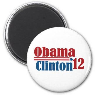obama clinton 2012 2 inch round magnet