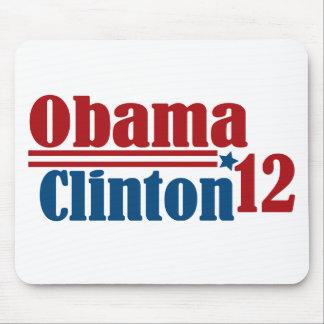 obama clinton 2012 mouse pad