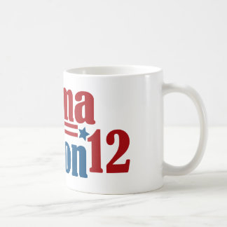 obama clinton 2012 classic white coffee mug