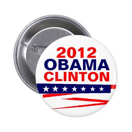 OBAMA-CLINTON, 2012 PIN