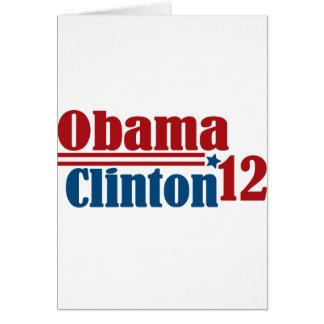 obama Clinton 2012 Tarjetón