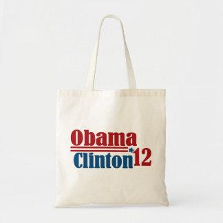 obama clinton 2012 tote bag