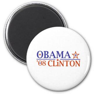 Obama Clinton Super Ticket 2008 Refrigerator Magnets