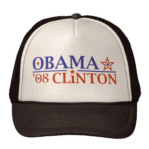 Obama Clinton Super Ticket 2008 Trucker Hat