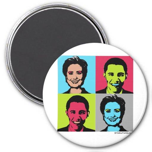 Obama Clinton Warhol.png Fridge Magnet