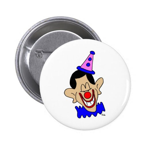 obama clown button