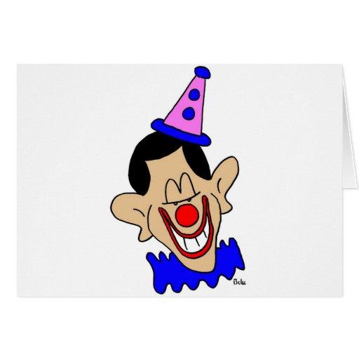 obama clown greeting card