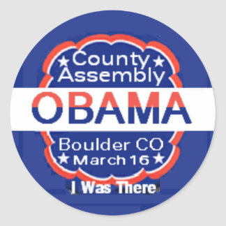 Obama CO Assembly Sticker