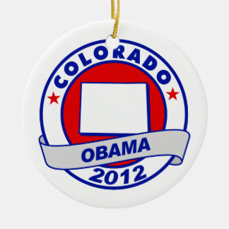 Obama - colorado christmas tree ornaments