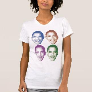 Obama colorido hace frente remera