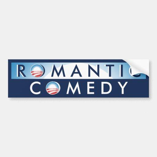 Obama = comedia romántica pegatina de parachoque