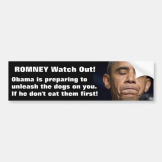¡Obama - comió el perro! Pegatina De Parachoque