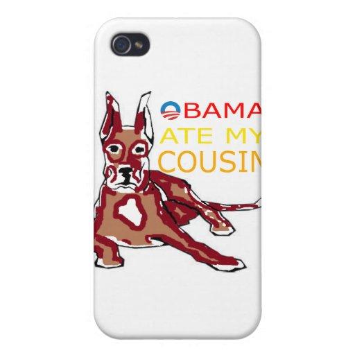 OBAMA COMIÓ MI COUSIN.png iPhone 4 Carcasas