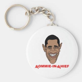 Obama: Commie-en-Jefe Llavero Redondo Tipo Pin