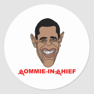 Obama: Commie-in-Chief Classic Round Sticker
