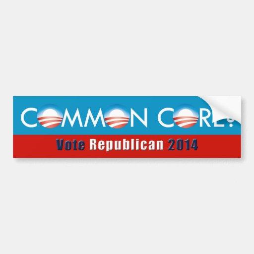 Obama(Common Core?/Vote Republican) Bumper Sticker