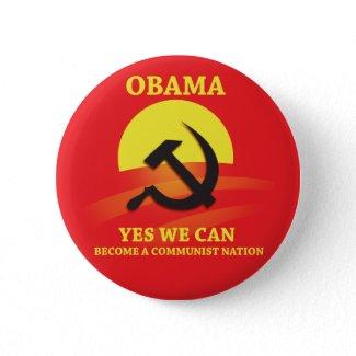 Obama Communist Button button