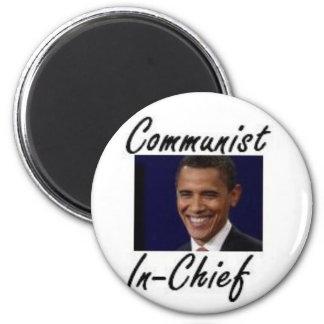 OBAMA COMMUNIST IN CHIEF 2 INCH ROUND MAGNET