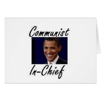 OBAMA COMMUNIST IN CHIEF CARD