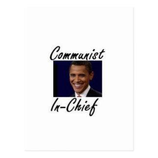OBAMA COMMUNIST IN CHIEF POSTCARD