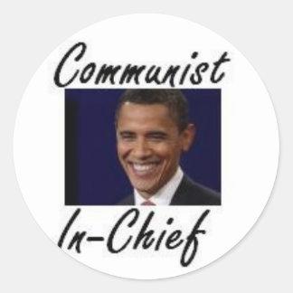 OBAMA COMMUNIST IN CHIEF STICKER