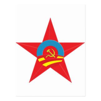 Obama Communist Star Postcard