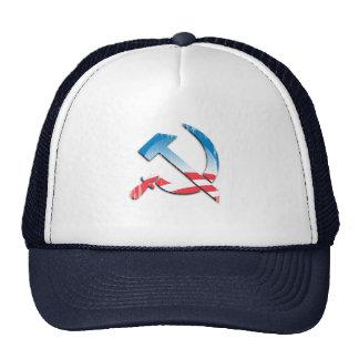 Obama Communist Symbol Faded.png Hats