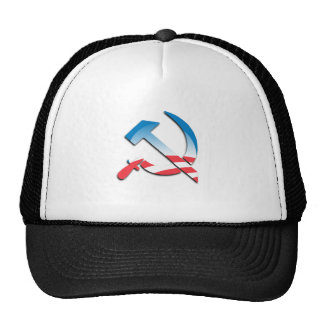 Obama Communist Symbol Trucker Hats