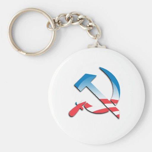 Obama Communist Symbol Key Chains