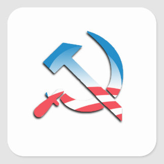 Obama Communist Symbol Square Sticker