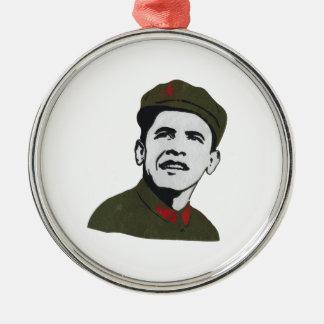 Obama como diseño de Che Guevara Adorno Navideño Redondo De Metal