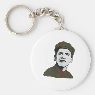 Obama como diseño de Che Guevara Llavero Redondo Tipo Pin