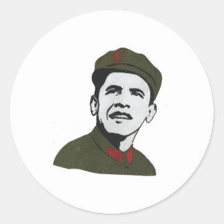 Obama como diseño de Che Guevara Pegatina Redonda