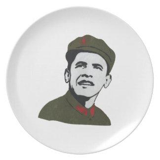 Obama como diseño de Che Guevara Plato