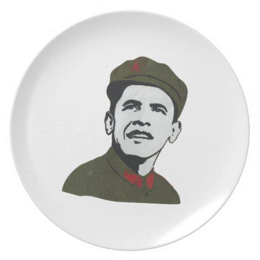Obama como diseño de Che Guevara Plato De Comida