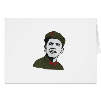 Obama como diseño de Che Guevara Tarjeta De Felicitación