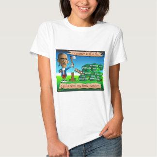 Obama como George Washington joven Camisas