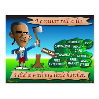 Obama como George Washington joven Postales