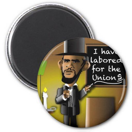 Obama como Lincoln para las uniones Iman Para Frigorífico